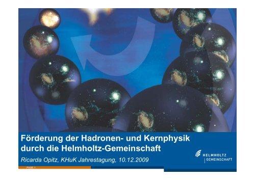 pdf, 669 KB - Komitee für Hadronen- und Kernphysik