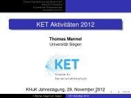 KET Aktivitäten 2012