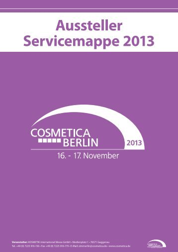 Aussteller-Servicemappe COSMETICA Berlin 2013 - KOSMETIK ...
