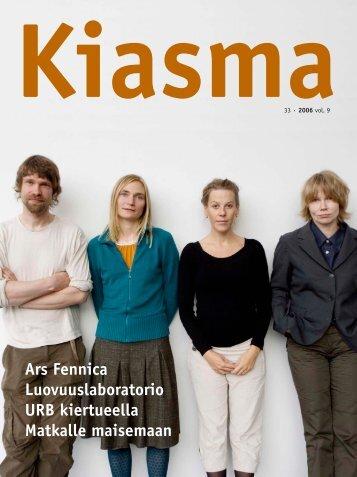 Lataa kiasma-lehti 33 PDF-versiona