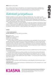 Äidinkieli ja kirjallisuus - Kiasma