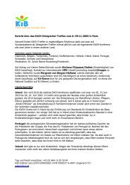 Bericht EACH Treffen in Paris - KiB Children Care