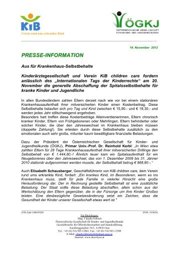 Presseaussendung - KiB Children Care