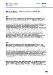 Literaturrecherche: Validierung; Zertifizierung (ab E.jahr 2007) - KIBB
