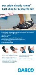 Der original Body Armor® Cast Shoe für Gipsverbände - Darco
