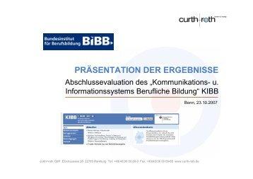 Nutzerbefragung zu KIBB 2007 - BiBB