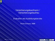 Evaluation Versicherungskaufleute - KIBB