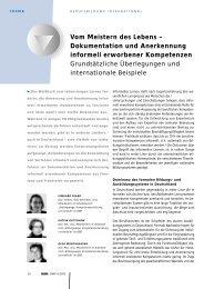 Vom Meistern des Lebens – Dokumentation und ... - BiBB