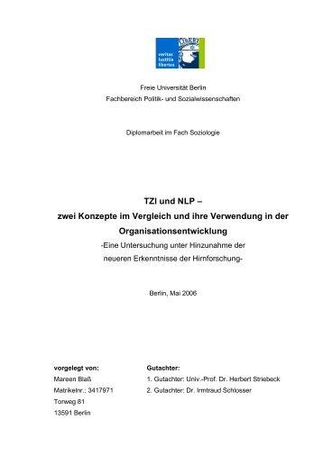 TZI und NLP – zwei Konzepte im Vergleich und ihre ... - KIBB