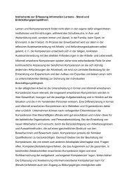 Instrumente zur Erfassung informellen Lernens - Stand und ... - KIBB