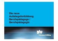Die neue Aufstiegsfortbildung Berufspädagoge ... - KIBB