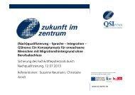 (Nach)qualifizierung – Sprache – Integration – QSInova: Ein ... - KIBB