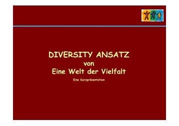 """Diversity Ansatz von """"Eine Welt der Vielfalt"""" - KIBB"""