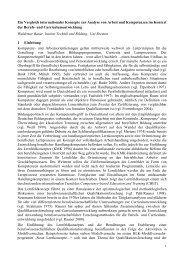 Ein Vergleich internationaler Konzepte zur Analyse von - KIBB