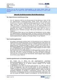 Aktuelle Ausbildungsdaten Berlin/Brandenburg - KIBB