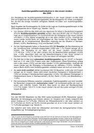 Ausbildungsstellenmarktsituation in den neuen Ländern - KIBB