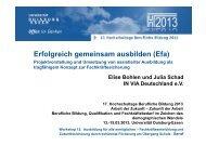 Erfolgreich gemeinsam ausbilden (Efa) - Projektvorstellung ... - KIBB