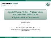 Energie-Effizienz: Moderne Antriebssysteme und - KIBB