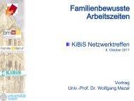 Familienbewusste Arbeitszeiten - KiBiS Work-Life Management GmbH