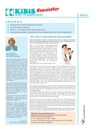 Newsletter 2011-09 (PDF 2886 KB) - KiBiS Work-Life Management ...