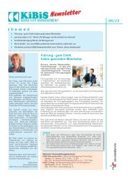 Newsletter (Pdf) - KiBiS Work-Life Management GmbH