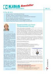 Newsletter 2011-05 (PDF 2369 KB) - KiBiS Work-Life Management ...