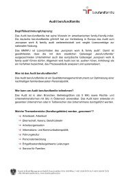 Audit berufundfamilie - KiBiS Work-Life Management GmbH