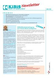 Newsletter 2009-08 (PDF 1118 KB) - KiBiS Work-Life Management ...