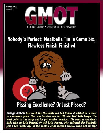 Nobody's Perfect: Meatballs Tie in Game Six, Flawless Finish ...