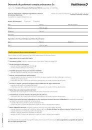 Demande de paiement compte prévoyance 3a