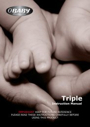 Triple instruction manual - Kiddicare