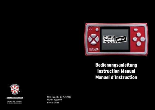Bedienungsanleitung Instruction Manual Manuel d ... - Kidoh.at