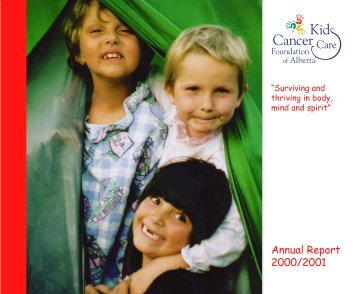 2000/01 Annual Report & Financial Statements - Kids Cancer Care