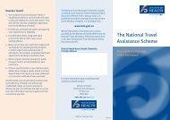 The National Travel Assistance Scheme - Kidshealth
