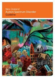 New Zealand Autism Spectrum Disorder Guideline - Ministry of Health