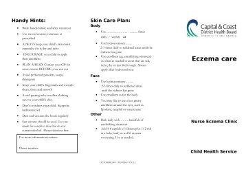 Eczema care - Kidshealth