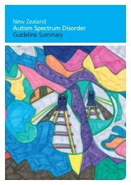 New Zealand Autism Spectrum Disorder ... - Ministry of Health
