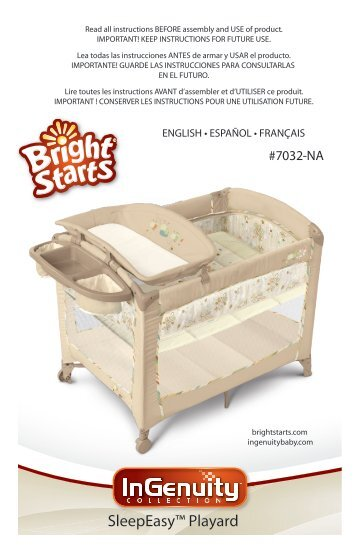 Bright Starts Playful Palstm Playard Corral Parc De Jeu Kids Ii