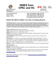 to download the official CSPC Recall Press Release. - Kids II