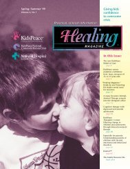 In this issue: Giving kids confidence to overcome crisis - KidsPeace