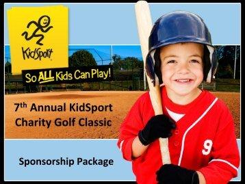 7th Annual KidSport Charity Golf Classic - KidSport™ Canada