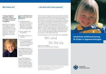 GUV-SI 8001 - Regelwerk des Bundesverbandes der Unfallkassen