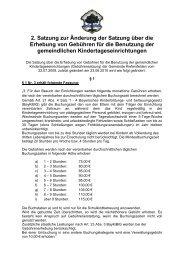 2. Satzung zur Änderung der Satzung über die ... - Kiefersfelden