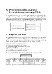 G. Produktionsplanung und Produktionssteuerung (PPS) - Kiehl