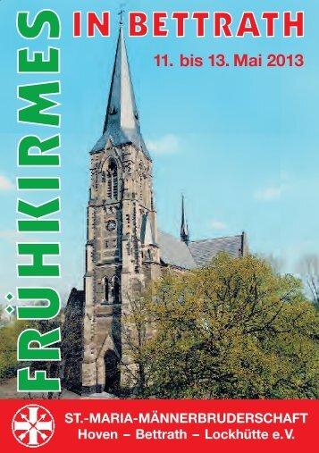 Festheft 2013 Frühkirmes - St. Maria Männerbruderschaft Hoven ...