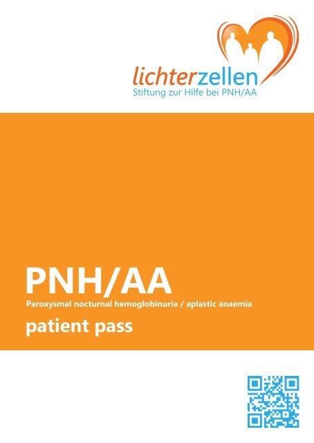 PNH/AA Patientenpass englisch