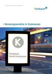 Beratungsansätze in Kommunen - Kienbaum