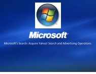 Microsoft's Search: Acquire Yahoo! Search and Advertising Operations