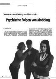 Psychische Folgen von Mobbing - Dr. med. Peter Teuschel