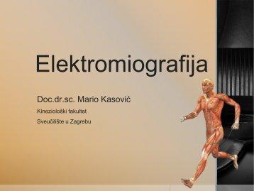 Elektromiografija 2012-2013 - Kineziološki fakultet - Sveučilište u ...